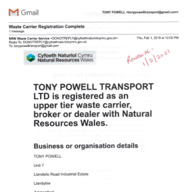 Tony carrier Registration